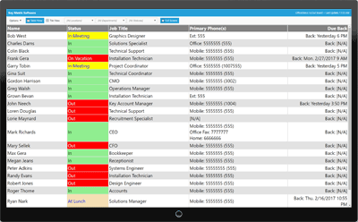 In Out Board Software For Employee Status Tracking