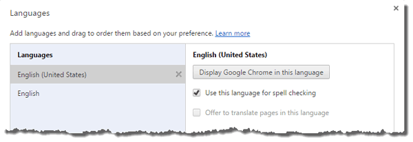 chrome-languages